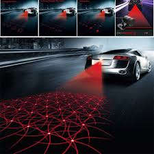car styling laser anti collision rear end 12v led car fog light