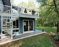Deck In The Backyard Design Your Own Urban Rooftop Deck Salter Spiral Stair