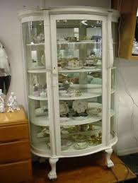 antique curio cabinet with curved glass antique white curio cabinet house decorations