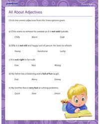 all about adjectives u2013 free parts of speech worksheet for 2nd grade