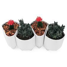 Indoor Garden Supplies - ceramic modular planter modern stoneware flower pot indoor