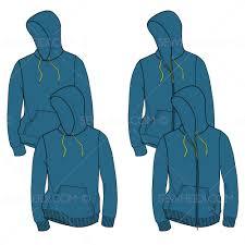 Fashion Stuff Men U0027s Hooded Sweatshirt Fashion Flat Template U2013 Illustrator Stuff