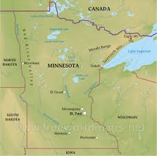 Physical Map Of Canada by Physical Map Of Minnesota