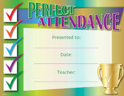 doc 960720 free printable perfect attendance certificate