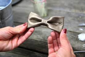 leather bow necklace images Diy no sew leather bow necklace pretty prudent jpg