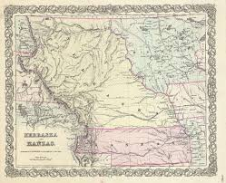 Map Of The State Of Kansas by Land Grants Kansas State History