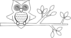 new autumn owl coloring page wecoloringpage