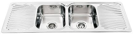 Kitchen Sinks Double Drainer Victoriaentrelassombrascom - Kitchen sink double bowl double drainer
