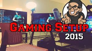 santorini l shaped computer desk gaming setup 2015 video tour youtube