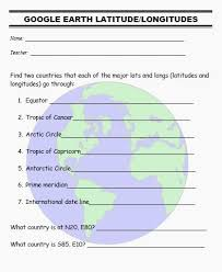 globe and maps worksheet how to teach geography with earth part i activities