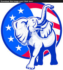 Usa Flag Vector Republican Elephant Mascot Usa Flag Vector Yayimages Com