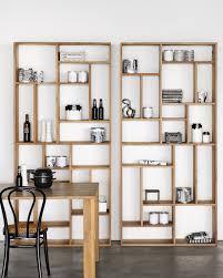 teak m rack teak bookcase by ethnicraft