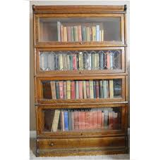 Bookcase With Doors Plans by Antique Bookcase With Sliding Glass Doors Walnut Bookcase With