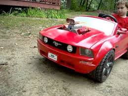 toddler mustang car 18v power wheels mustang with blower