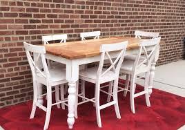 Counter Height Table Farmhouse Table Island Table - Oak counter height dining room tables