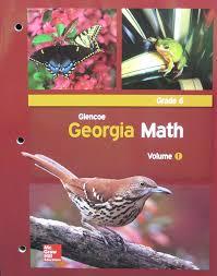 amazon com glencoe georgia math grade 6 volume 1 glencoe