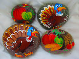 painted rock thanksgiving harvest fall placeforyou