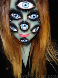 multiple eye make up work is great horror make up pinterest