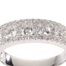 alliance en or demi alliance en or et diamants mariage p2504 aux diamants