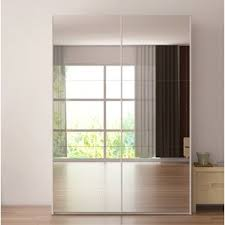 Armoire With Glass Doors Mirror Armoires U0026 Wardrobes You U0027ll Love Wayfair