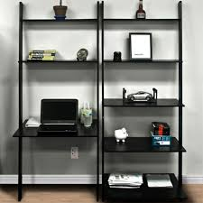 Leaning Bookcases Leaning Shelf Bookcase With Computer Desk Office Furniture Home