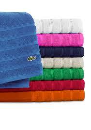 Lacoste Home Decor by Lacoste Croc Solid Bath Towel Collection Belk