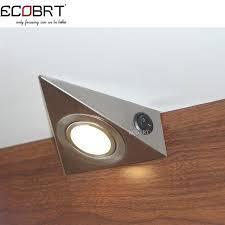 triangular under cabinet kitchen lights modern 230v 1 2w triangle led under cabinet light with switch