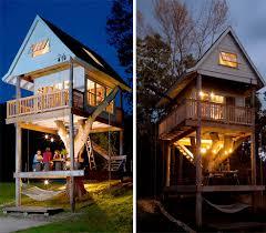 Camping In Backyard Ideas Three Story Tree House Is A Dream Backyard Getaway Tiny Homes