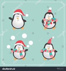 set cute penguins vector illustration stock vector 154303616