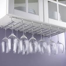 hanging metal stemware rack silver metallic shelving systems
