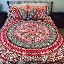 indian red mandala duvet covers hippie bohemian bedding set quilt