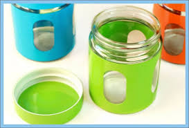 blue kitchen canister set kitchen blue green orange glass canisters set of 3 kitchen sugar