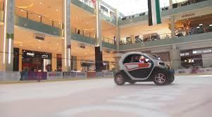 renault twizy f1 f1 drivers race in renault twizy evs inside mall video