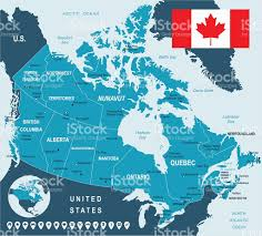 Baffin Bay On World Map by Canada Map Flag And Navigation Labels Illustration Stock Vector