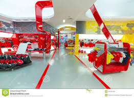 ferrari world souvenir shop in ferrari world editorial image image 40147340