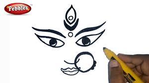 how to draw durga maa durga puja drawing for kids navratri
