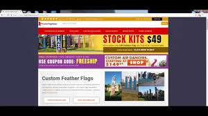 Custom Feather Flags How To Use Featherflagnation Com For Custom Feather Flags Youtube