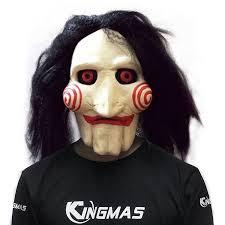 skin mask halloween amazon com halloween mask movie jigsaw puppet full mask head