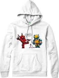Marvel Super Heroes Clothing Deadpool Hoodie Wolverine Ice Cream Hoodie Marvel Superhero Top