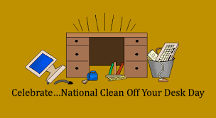 How To Clean Your Desk National Clean Off Your Desk Day Pictures To Pin On Pinterest