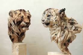 majestic wood animal sculptures created with a chainsaw by jürgen