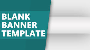 youtube blank banner template blank banner template psd download