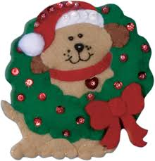design works ornament wreath felt applique kit