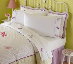 white u0026 purple dragonflies kids twin bed sheets set for girls