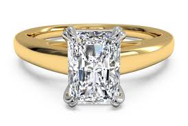 yellow gold diamond rings cathedral prong solitaire engagement ring in 18k yellow
