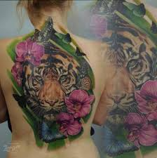 flower back tiger by voice of ink