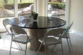 Table Granite Round And Chairs Top Dining Coffee Talkfremont - Kitchen table granite