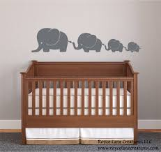 Elephant Wall Decal For Nursery by Silver Elephant Decal Elephant Family 4 Elephants Decal