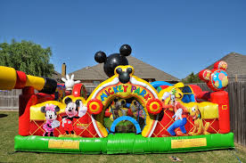 mickey mouse clubhouse bounce house keeping up with the morgans callie s minnie birthday party