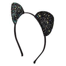 claires headbands black glitter cat ears headband s us